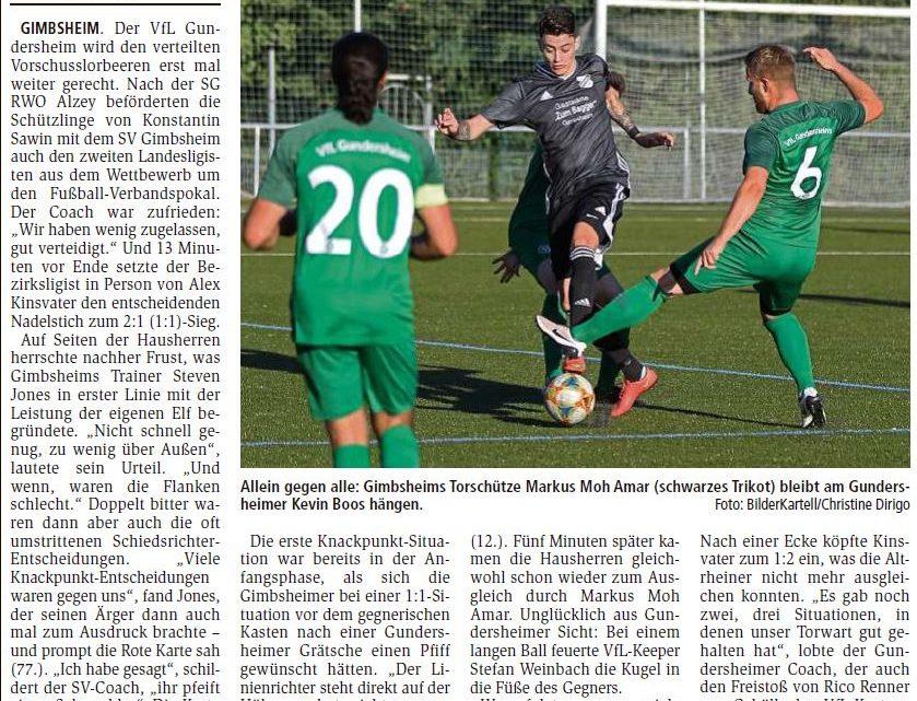 Weiter geht die Pokalreise durch Siege am Altrhein